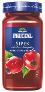 Domača marmelada Fructal, šipek, 700 g