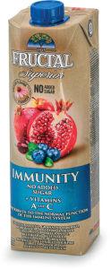 Sok Fructal Superior immunity, granatno jabolko, borovnica, 1 l