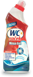Čistilo WC raček, mega gel, 750ml