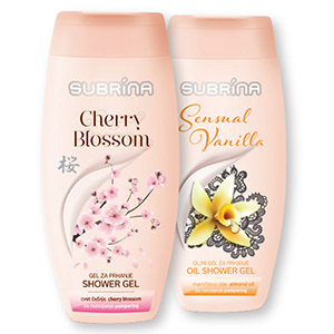 Tušgel Subrina, cherry blossom, 250ml