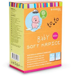 Baby Soft krpice za umivanje To.To, 100/1