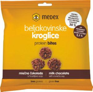 Kroglice proteinske, mlečna čokolada, 24g
