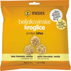 Kroglice proteinske, bela čokolada, 24g