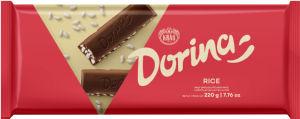 Čokolada mlečna Dorina, riževa, 220g