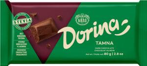 Čokolada Dorina, s stevio, temna, 80g
