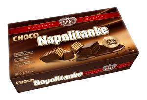 Napolitanke Kraš, čokoladne, 500g