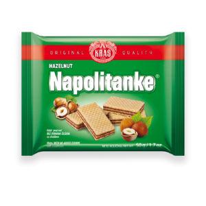 Napolitanke Kraš, lešnik, dietne, 50g