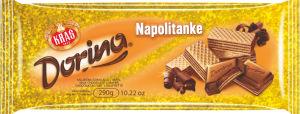 Čokolada mlečna Dorina z napolitanko, 290g