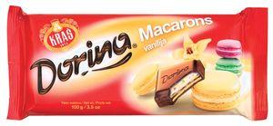 Čokolada mlečna Dorina Macarons, vanilija, 100g