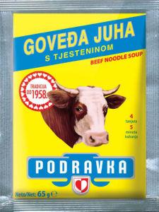 Juha Podravka, goveja s testeninami, 65g