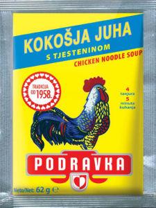Juha Podravka, kokošja s testeninami, 62g