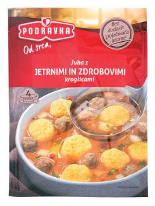 Juha Podravka, jetr. in zdrob. kroglic,  52g