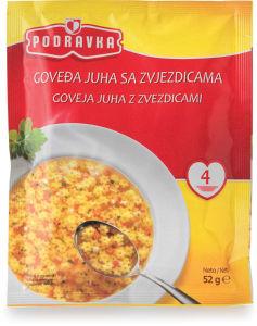 Juha Podravka, goveja z zvezdicami, 52 g
