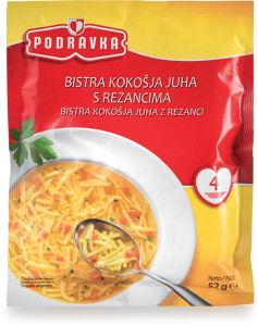 Juha Podravka, kokošja z rezanci, 52 g