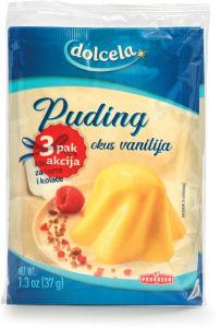 Puding Dolcela, vanilija, 3 pak, 111 g