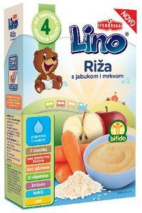 Kašica Lino dehid, riž, jabolko,korenje, 210g