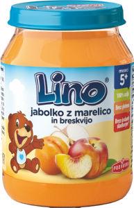 Kašica Lino jabolko, marelica, breskev, 190g