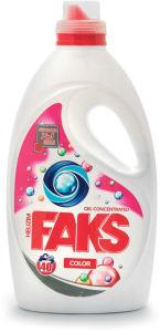 Pralni prašek Faks, gel C.Color, 2l