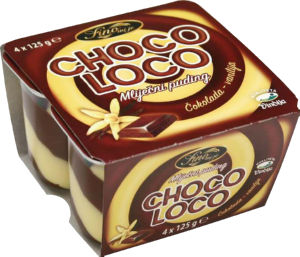 Puding Choco loco, 4x125g