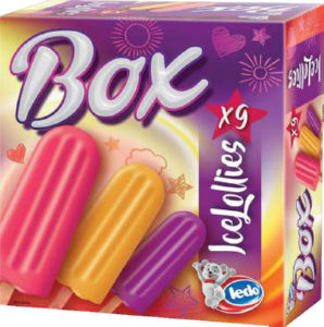 Sladoled Ledo, Box ice lollies, 9x62ml
