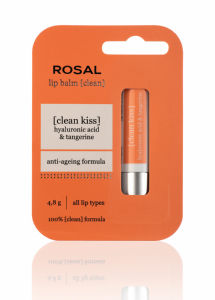 Balzam Rosal za ustnice, Clean face, Hyal.acid&tangerin