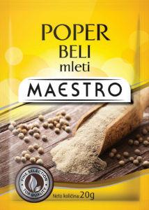 Poper Maestro, beli, mleti, 20g
