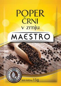 Poper Maestro, črni, v zrnju, 15g
