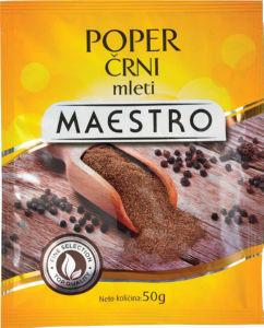 Poper Maestro, črni, mleti, 50g