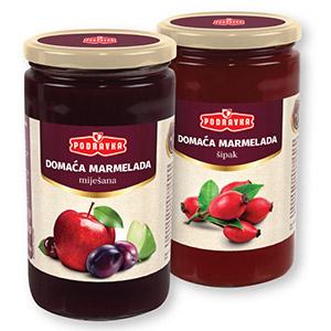 Domača marmelada, več okusov