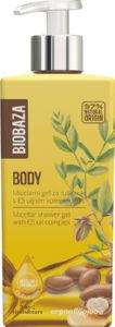 Tuš gel Biobaza, micelarni, argan&jojoba, 400ml