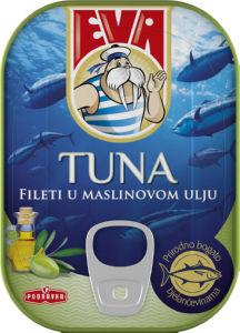 Tuna Eva, file gold v olivnem olju, 115g