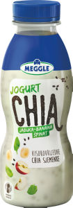 Jugurt Meggle chia, jabolko, ban., špinača, 330g