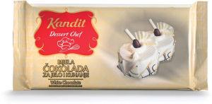 Čokolada bela, Kandit, za kuhanje, 200g