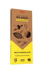 Čokolada Kandi ml., brez dod.sladkorja z mandljem, 80g