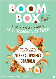 Granola Boom box ovsena, oreški, 300 g