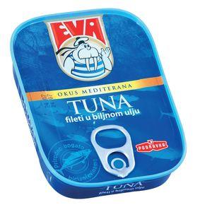 Tuna Eva, fileti v rastlinskem olju, 115g