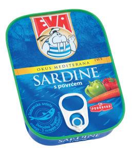 Sardine Eva, z zelenjavo, 115 g