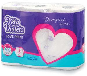 Papirnate brisače Violeta, Love, kuhinjske, 3sl., 3/1