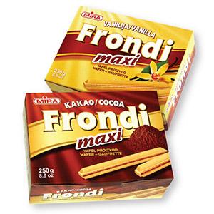 Vaflji Frondi Maxi, vanilija ali kakav