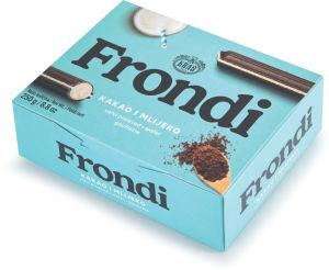 Vafelj Frondi, temni z mlečno kremo, 250 g