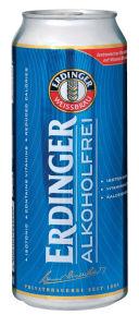 Pivo Erdinger, brezalkoholno, pločevinka, 0,5l