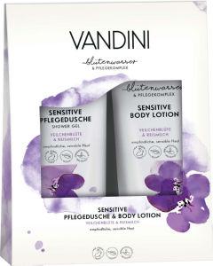 Set Vandini, Sensitive, losjon+tuš gel, 2x200ml
