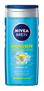 Tuš gel Nivea, power refresh, 250ml