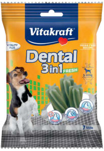 Poslastica Dental f., 3v1 za manjše pse, 120g