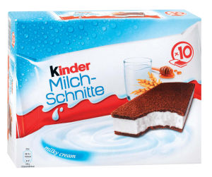 Mlečna rezina Kinder Milch Schnite, 10x28g