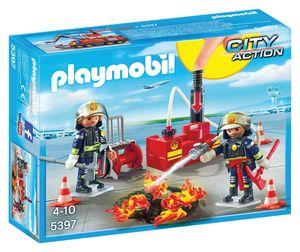 Playmobil Gasilci z vodno črpalko