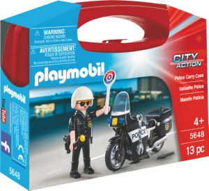 Kocke Playmobil, Torbica policist na motorju