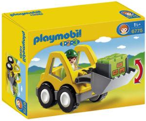 Kocke Playmobil, Sprednji nakladalnik 1.2.3 s premičnim kopačem, 6775