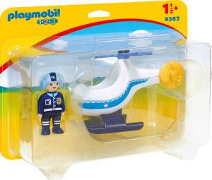 Kocke Playmobil, Policijski helikopter 1.2.3, 9383