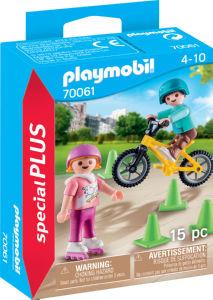 Kocke Playmobil, Otroci s skejti in kolesi, 70061